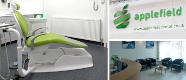 Interior and exterior of Applefield Dental Care