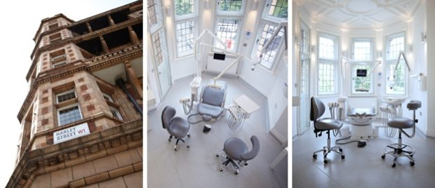 Interior and exterior images of Harley Street Practice