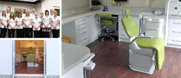 Interior and exterior of The Alders Dental Practice